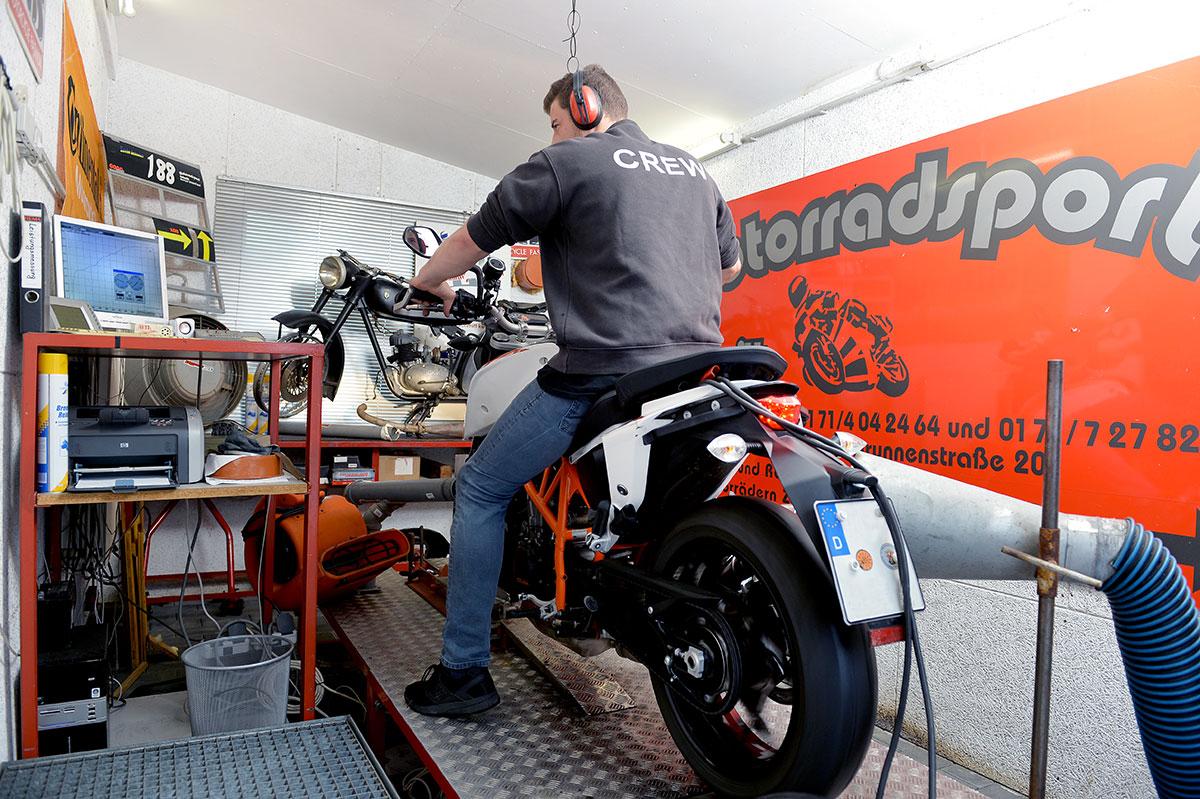 Motorradsport Schmitt in Binningen - Leistungsprüfstand Kevin Schmitt